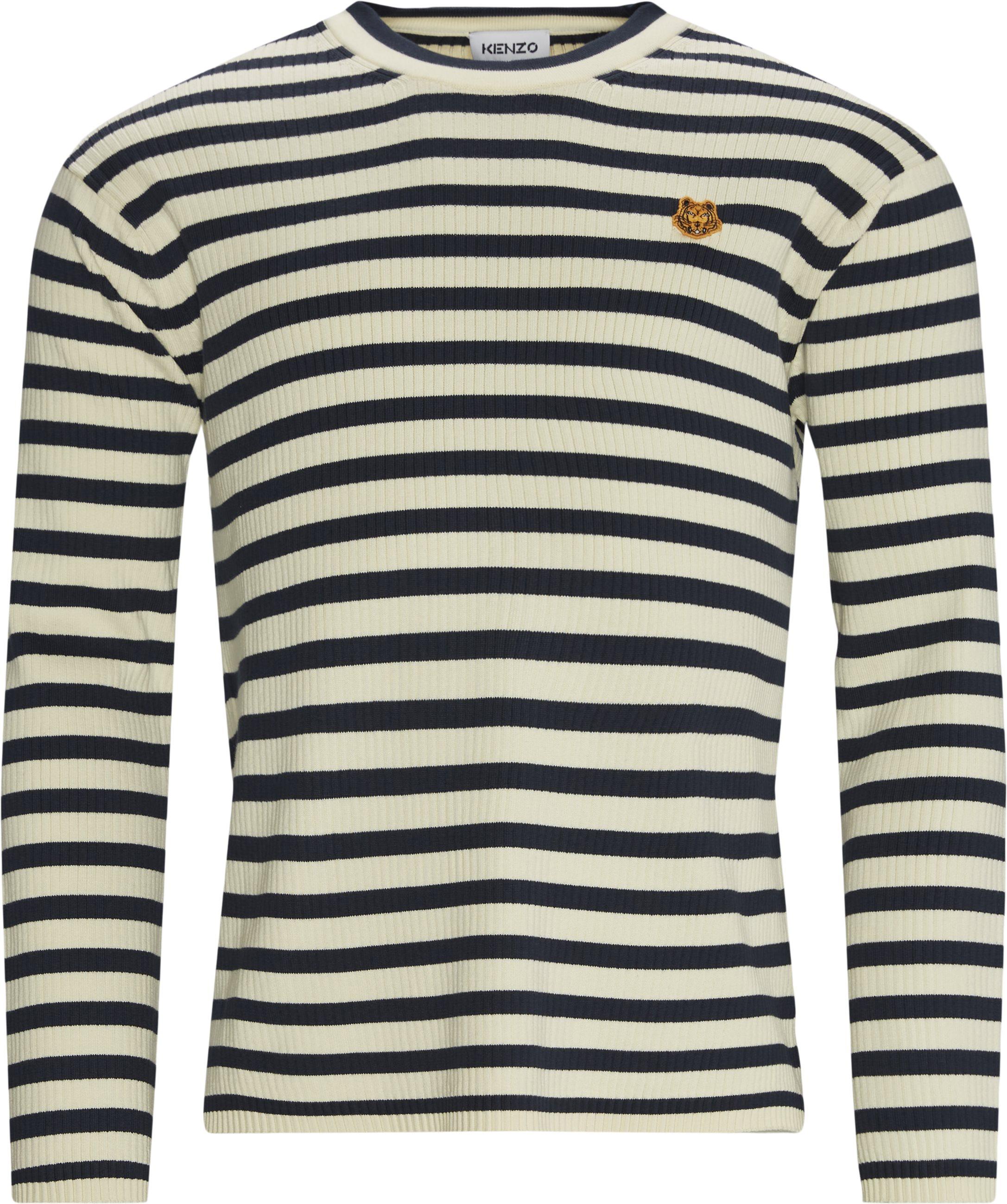 Striped Jumper - Strik - Regular fit - Blå